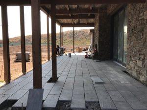 Granite Paver Porch