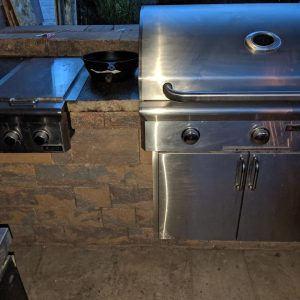 Grill and Cabinets
